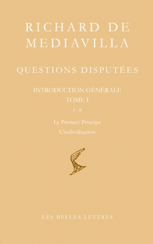 Questions disputées. Tome I
