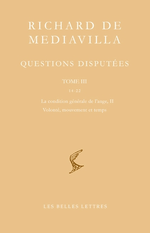 Questions disputées. Tome III